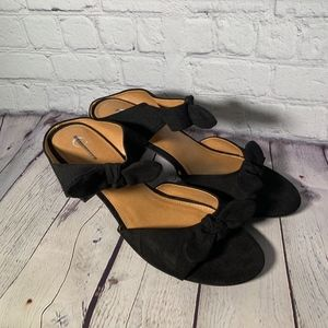 CATO Black Bow Heels